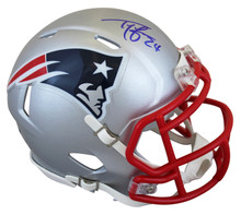 Patriots Ty Law Authentic Signed Speed Mini Helmet Autographed BAS Witnessed