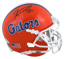 Florida Jevon Kearse Authentic Signed Orange Schutt Mini Helmet BAS Witnessed