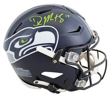 Seahawks DK Metcalf Authentic Signed Speed Flex Full Size Helmet BAS Witnessed