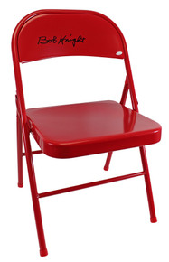 Indiana Bobby Knight Authentic Signed Red Folding Chair Autographed JSA Witness