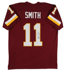 Alex Smith Authentic Signed Maroon Pro Style Jersey Autographed BAS Witnessed