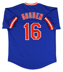 Mets Doc Gooden Authentic Signed Blue Jersey Autographed JSA Witness