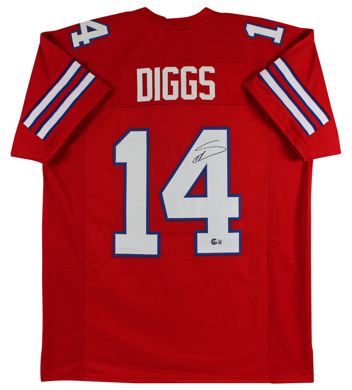 Stefon Diggs Authentic Signed Red Pro Style Jersey Autographed BAS Witnessed