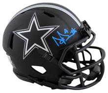 Cowboys Dak Prescott Authentic Signed Eclipse Speed Mini Helmet BAS Witnessed