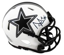 Cowboys Dak Prescott Authentic Signed Lunar Speed Mini Helmet BAS Witnessed