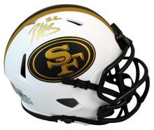 49ers Patrick WIllis Authentic Signed Lunar Speed Mini Helmet BAS Witnessed