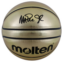 Lakers Magic Johnson Authentic Signed Gold Molten Basketball BAS Witnessed