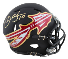 Florida State Derrick Brooks Authentic Signed AMP Speed Mini Helmet BAS Witness