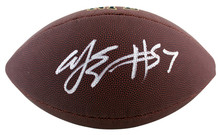 Bills A.J. Epenesa Authentic Signed Wilson Super Grip Nfl Football BAS Witnessed
