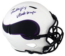 "Vikings Randall Cunningham ""UW"" Signed Lunar Full Size Speed Rep Helmet BAS Wit"