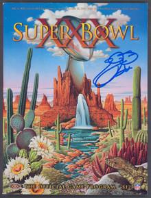Cowboys Emmitt Smith Authentic Signed SB XXX Program BAS Witnessed #WK32394