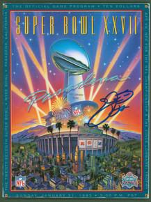 Cowboys Emmitt Smith Authentic Signed SB XXVII Program BAS Witnessed #WK32393