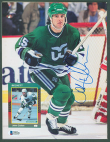 Whalers John Cullen Authentic Signed Beckett Magazine Autographed BAS #Z99328