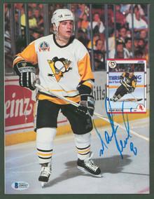 Penguins Mark Recchi Authentic Signed Beckett Magazine Autographed BAS #Z99327