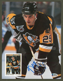 Penguins Kevin Stevens Authentic Signed Beckett Magazine Autographed BAS #Z99323