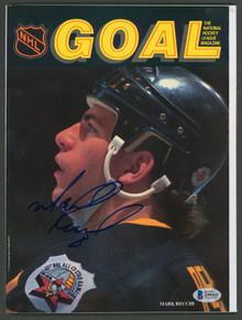 Penguins Mark Recchi Authentic Signed Goal Magazine Autographed BAS #Z99315
