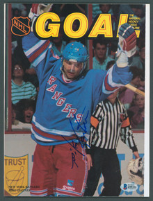 Rangers Mike Gartner Authentic Signed Goal Magazine Autographed BAS #Z99331
