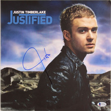Justin Timberlake Authentic Signed Justified Album Cover W/ Vinyl BAS #C87060