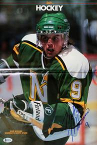North Stars Mike Modano Authentic Signed Inside Hockey Magazine BAS #Z99334