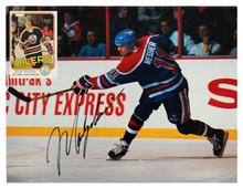 Brett Hull & Mark Messier Authentic Signed Beckett Hockey Magazine BAS #AA03441
