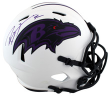Ravens Ray Lewis Authentic Signed Lunar Full Size Speed Rep Helmet BAS Witnessed