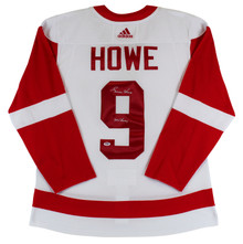 """Red Wings Gordie Howe """"Mr. Hockey"""" Signed White Adidas Size 54 Jersey PSA/DNA"""