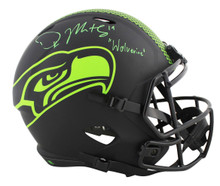 "Seahawks DK Metcalf ""Wolverine"" Signed Eclipse Full Size Speed Rep Helmet BAS"