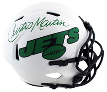 Jets Curtis Martin Authentic Signed Lunar Full Size Speed Rep Helmet PSA/DNA Itp