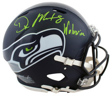 "Seahawks DK Metcalf ""Wolverine"" Signed Full Size Speed Proline Helmet BAS Wit"