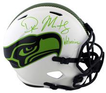"Seahawks DK Metcalf ""Wolverine"" Signed Lunar F/S Speed Proline Helmet BAS Wit"
