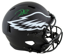 Eagles Jalen Hurts Authentic Signed Eclipse Full Size Speed Rep Helmet PSA Itp