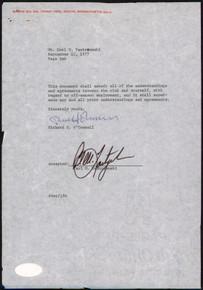 Red Sox Carl Yastrzemski Signed 1977 Letter on Red Sox Letterhead PSA #AI50349