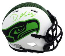 Seahawks DK Metcalf Authentic Signed Lunar Speed Mini Helmet BAS Witnessed