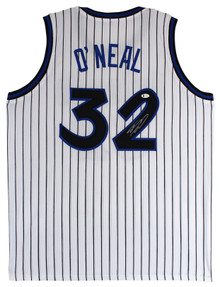 Shaquille O'Neal Authentic Signed White Pro Style Jersey Autographed BAS Witness