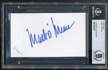 Mark O'Meara Golf Authentic Signed 3x5 Index Card Autographed BAS Slabbed