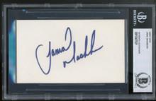 Mavericks Jamal Mashburn Authentic Signed 3x5 Index Card Autographed BAS Slabbed