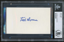 White Sox Ted Lyons Authentic Signed 3x5 Index Card Autographed BAS Slabbed