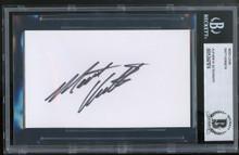 NASCAR Matt Kenseth Authentic Signed 3x5 Index Card Autographed BAS Slabbed