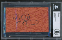 Lakers Brian Shaw Authentic Signed 3x5 Basketball Cut Signature BAS Slabbed