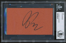 Knicks Nate Robinson Authentic Signed 3x5 Basketball Cut Signature BAS Slabbed