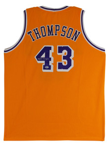 Mychal Thompson Authentic Signed Yellow Pro Style Jersey Autographed BAS Witness