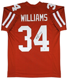 Texas Ricky Williams Authentic Signed Burnt Orange Pro Style Jersey BAS Witness