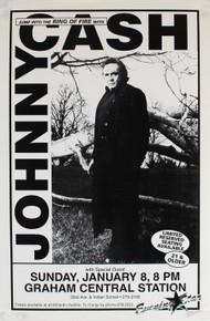 Johnny Cash Vintage January 8, 1995 11x17 Concert Poster Unsigned