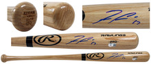 Braves Ronald Acuña Jr. Authentic Signed Rawlings Pro Baseball Bat BAS Witnessed