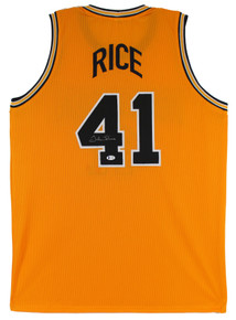 Michigan Glen Rice Authentic Signed Yellow Pro Style Jersey BAS Witnessed