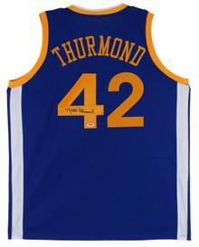 Nate Thurmond Authentic Signed Blue Pro Style Jersey Autographed PSA/DNA Itp