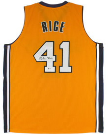 Glen Rice Authentic Signed Yellow Pro Style Jersey Autographed BAS Witnessed