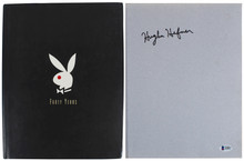 Hugh Hefner Signed Playboy - 40 Years: Pictorial History Hard Cover Book BAS LOA