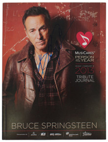 Bruce Springsteen Signed 2013 MusiCares Person Of The Year Tribute BAS #AA03503