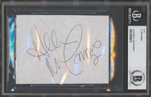 Flames Al MacInnis Authentic Signed 3.25x4.5 Cut Signature BAS Slabbed